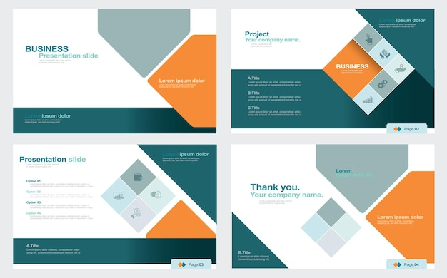 Présentation et arrière-plan de la mise en page des diapositives utilisation pour le dépliant de marketing du rapport annuel d'entreprise