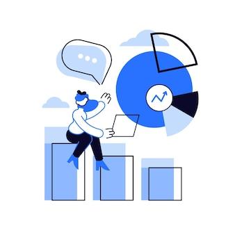 Présentation commerciale. analyse de données, camembert, infographie