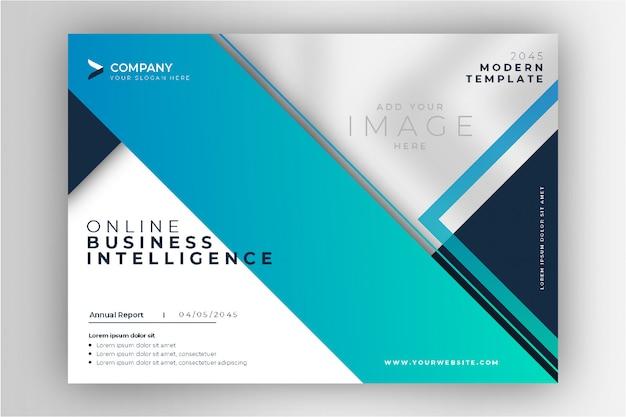 Présentation commerciale de brochure moderne