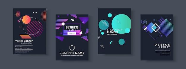 Présentation commerciale, modèles de couverture de document d'entreprise et de modèle de présentation