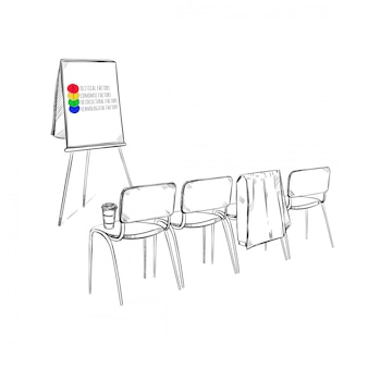 Présentation commerciale de la stratégie marketing de croquis