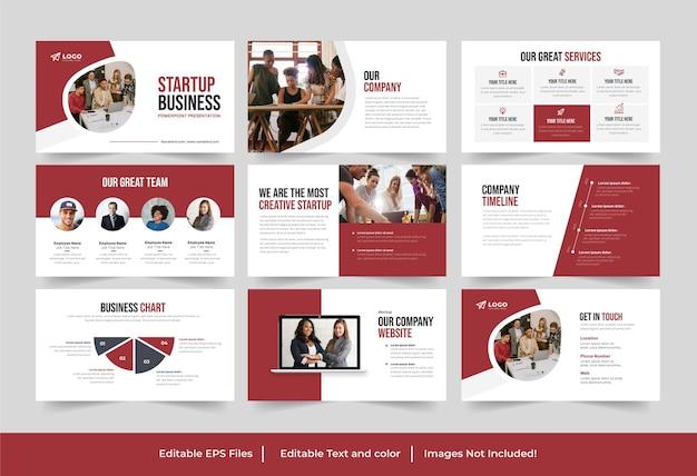 Présentation de démarrage d'entreprise ou conception de modèle de présentation powerpoint de démarrage