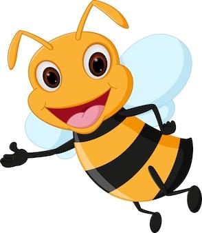Présentation de dessin animé abeille volante