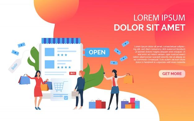 Présentation du modèle de diapositive de vente orange