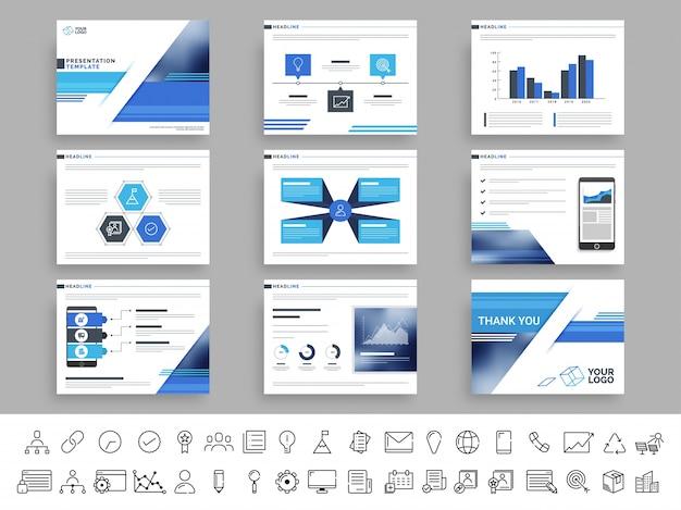 Présentation du modèle de présentation des entreprises créatives.