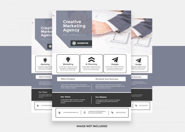 Présentation du nouveau concept creative design coloré moderne flyer d'entreprise
