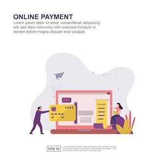 Présentation du paiement en ligne, promotion des médias sociaux, bannière