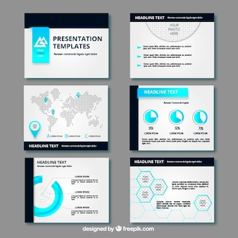 Présentation de l'entreprise avec la carte et les graphiques