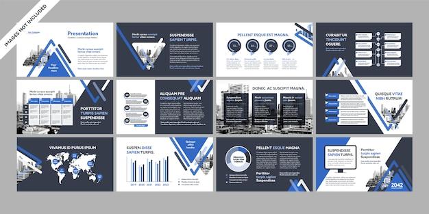 Présentation de l'entreprise avec modèle d'infographie.