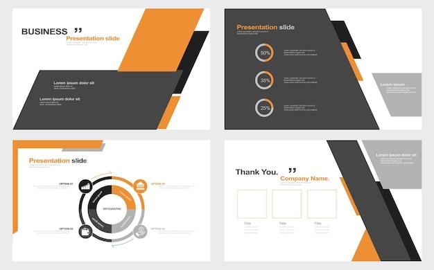 Présentation flyer set stock illustration modèle diaporama présentation logiciel infographie