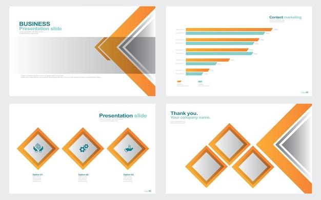 Présentation fond blanc stock illustration brochure de modèles de diapositives photographiques