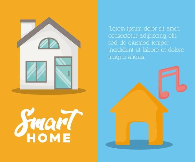 Présentation infographique du concept de maison intelligente