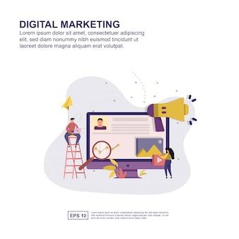 Présentation marketing numérique, promotion des médias sociaux, bannière