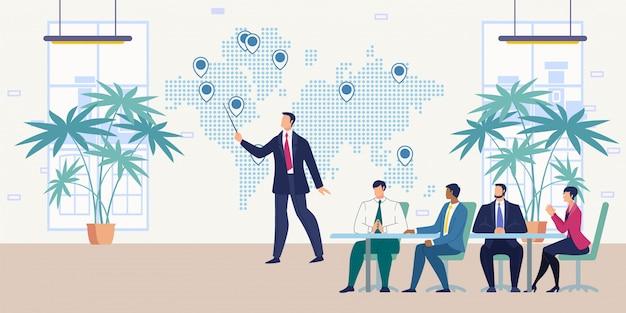 Présentation pour le concept de vecteur de partenaires commerciaux
