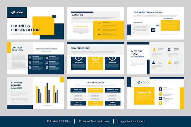 Présentation powerpoint d'entreprise ou conception de diapositives powerpoint d'entreprise