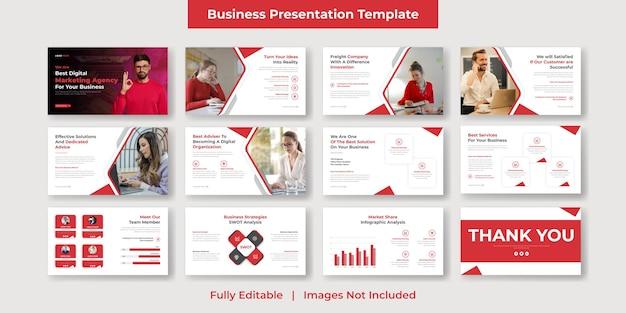 Présentation powerpoint d'entreprise et d'entreprise moderne et conception de modèles de diapositives google