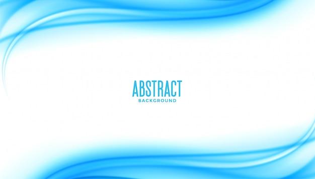 Présentation de style commercial abstrait vague bleue