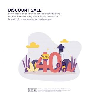 Présentation de vente au rabais, promotion des médias sociaux, bannière