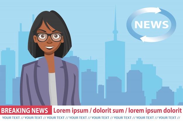 Présentatrice afro-américaine à la télévision