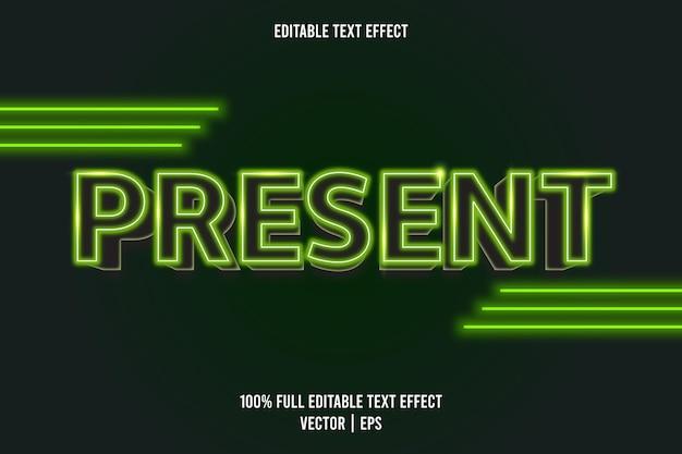 Présenter un style néon à effet de texte modifiable
