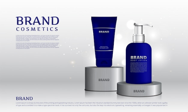 Présentoir en acier inoxydable produits cosmétiques