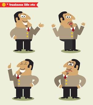 Président émotions dans les poses
