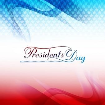 Presidents day ondulés fond avec des étoiles
