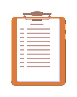 Presse-papiers avec enquête de test d'école de conduite isolé sur blanc