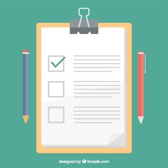 Presse-papiers et test design plat