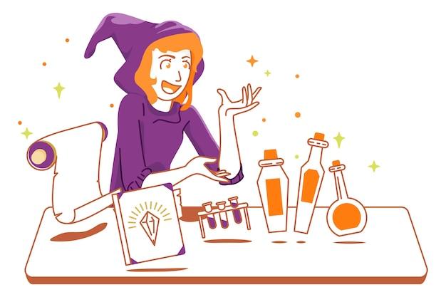 Prêt pour la potion d'halloween