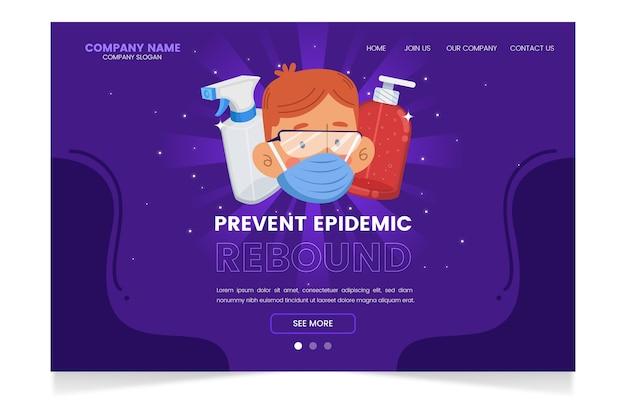 Prévenir la page de destination du rebond de l'épidémie