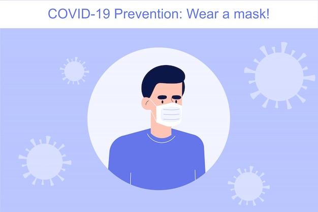 Prévention des coronavirus porter un masque
