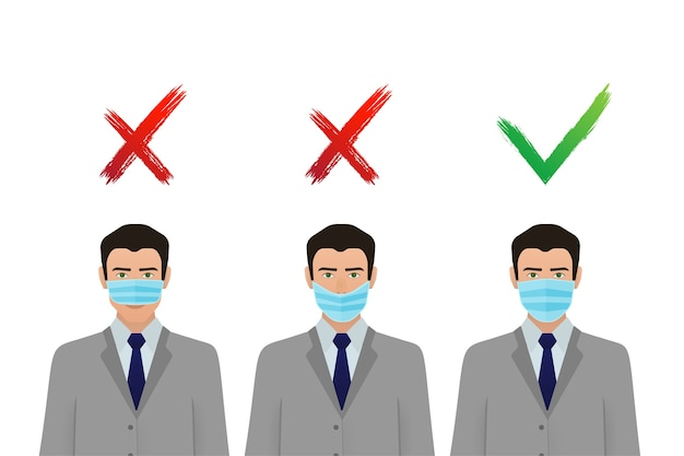 Prévention de la pandémie de coronavirus. icône de masque médical. protection contre le corona virus .