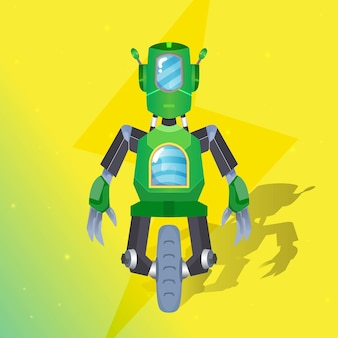 Prime d'illustration de mécanicien de robot