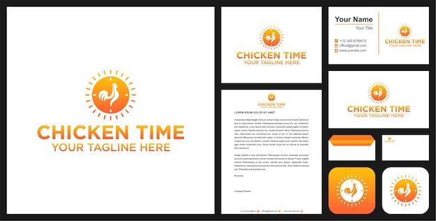 Prime de logo de temps de poulet