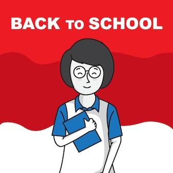 Prince mignon de retour à l'école