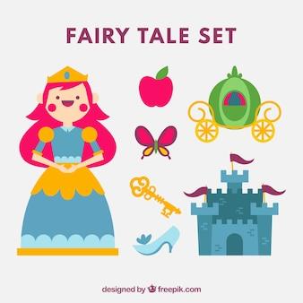 Princesse heureuse avec des éléments de l'histoire