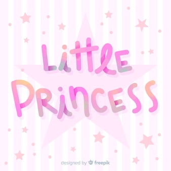 Princesse lettrage fond rayé
