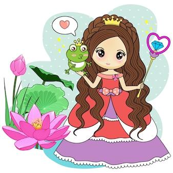 Princesse et le prince grenouille