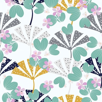 Printemps abstrait motif floral surface transparente