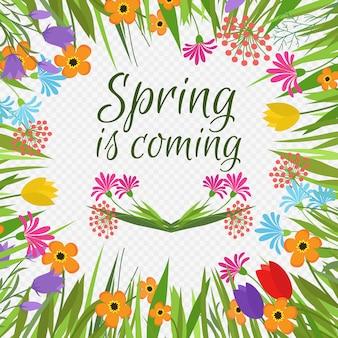 Le printemps arrive bannière