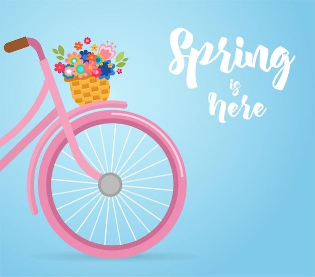 Le printemps est là - vélo avec de jolies fleurs