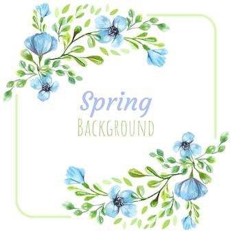 Printemps fleurs bleues
