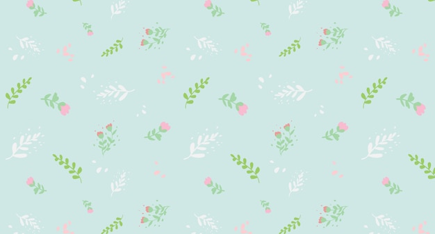 Printemps floral vector seamless pattern