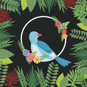 Printemps oiseaux fleurs décoration nature branche