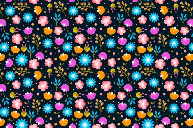 Printemps petites fleurs fond imprimé ditsy