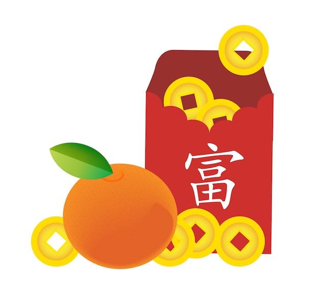 Printenvelope et vieille pièce d'or chinoise