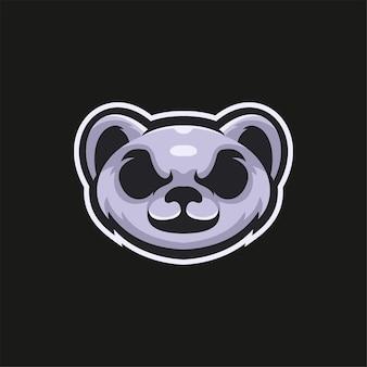 Printkoala tête d'animal dessin animé logo modèle illustration esport logo jeu premium vecteur