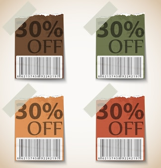 Printvintage discount tags design