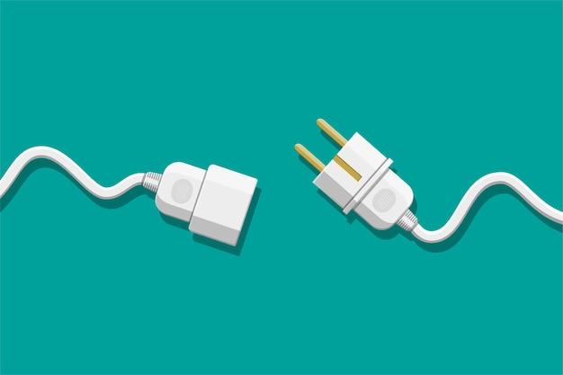 Prise électrique et fiche débranchées.